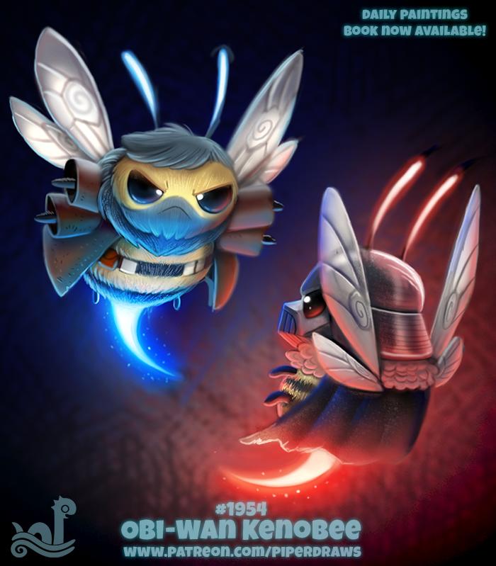 Фото Пчелы в образе Luke Skywalker / Люк Скайуокер и Anakin Skywalker / Дарт Вейдер из сериала Star Wars / Звездные войны (Obi-Wan Kenobee), by Cryptid-Creations