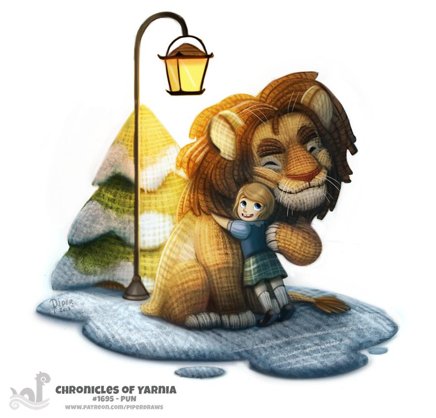 Фото Lucy Pevensie / Люси Пэвенси и Aslan / Аслан из фильма Azaroth / Хроники Нарнии (Chronicles of Yarnia), by Cryptid-Creations