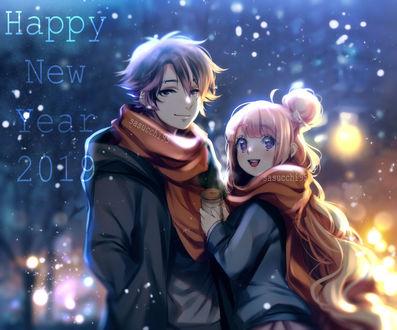 Фото Парень стоит рядом с девушкой, (Happy new year 2019 / счастливого нового 2019 года) , by sasucchi95 on DeviantArt