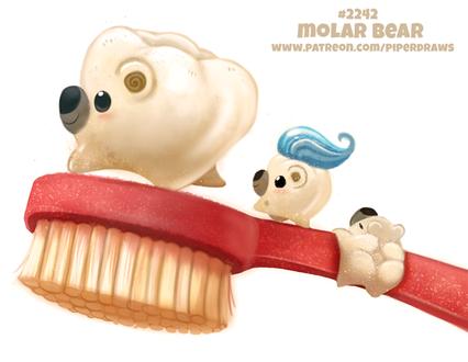 Фото Медведи-зубы на щетке (Molar Bear), by Cryptid-Creations
