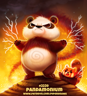 Фото Панда и красная панда (Pandamonium), by Cryptid-Creations