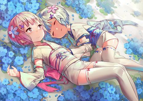 Фото Дети Ram / Рам и Rem / Рем арт аниме Re: Zero kara Hajimeru Isekai Seikatsu / Re: Жизнь в альтернативном мире с нуля