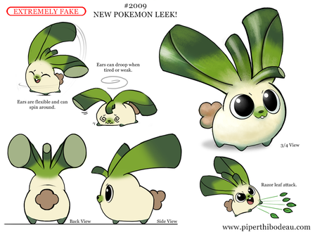 Фото Луковый кролик (New Pokemon Leek!), by Cryptid-Creations