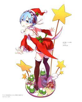 Фото Rem / Рем в костюме Санты из аниме Re: Zero kara Hajimeru Isekai Seikatsu / Re: Жизнь в альтернативном мире с нуля