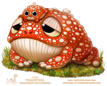 Фото Лягушки в образе поганки (Toadstool), by Cryptid-Creations