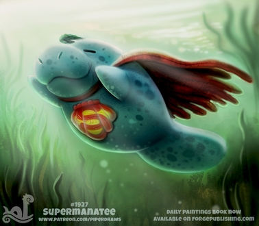 Фото Ламантин в образе Superman / Супермен (Supermanatee), by Cryptid-Creations