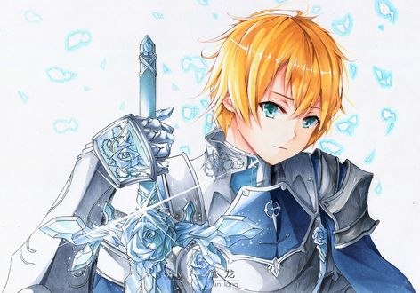 Фото Eugeo Synthesis Thirty Two / Юджио Синтезис Сети Ту аниме Sword Art Online Alicization / Мастера Меча Онлайн Алисизация, by yuan long