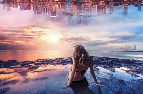 Фото Девушка сидит в воде, by IgnisFatuusII