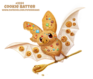 Фото Печеньковая летучая мышка (Cookie Batter), by Cryptid-Creations