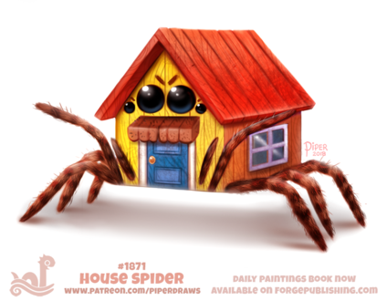 Фото Домик-паук (House Spider), by Cryptid-Creations