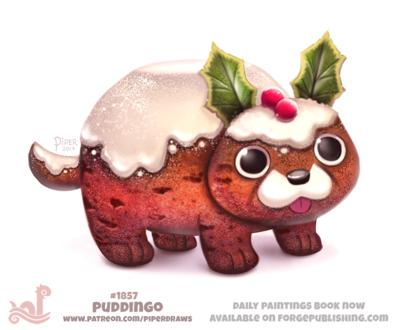 Фото Пес с высунутым языком под снегом (Puddingo), by Cryptid-Creations