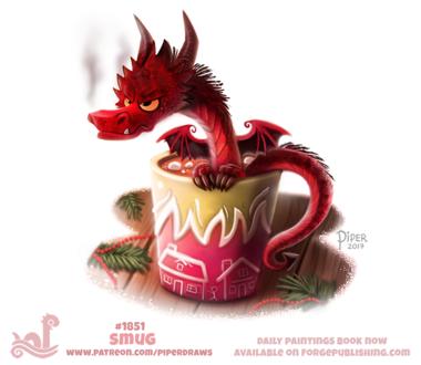 Фото Красный дракон в кружке (Smug), by Cryptid-Creations