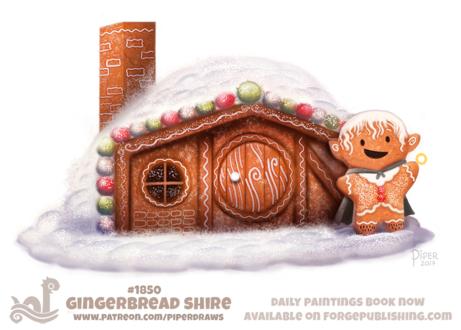 Фото Пряничный человек возле пряничного дома (Gingerbread Shire), by Cryptid-Creations