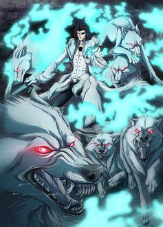 Фото Coyote Starrk / Койот Старрк и его волки из аниме Bleach / Блич