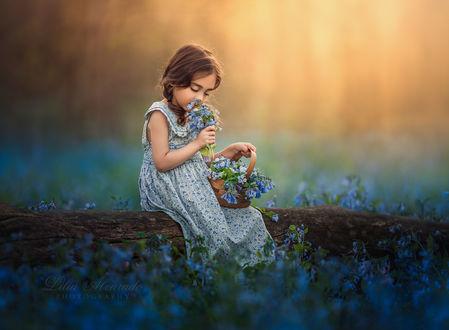 Фото Девочка с незабудками, by Lilia Alvarado