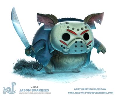 Фото Свинья в образе Jason Voorhees / Джейсон Вурхиз из фильма Friday, The 13th / Пятница, 13-е (Jason Boarhees), by Cryptid-Creations
