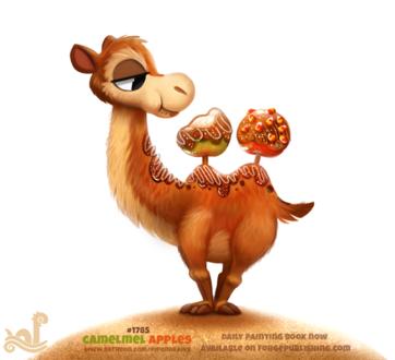 Фото Верблюд надкусил карамельное яблоко-горб (Camelmel Apples), by Cryptid-Creations