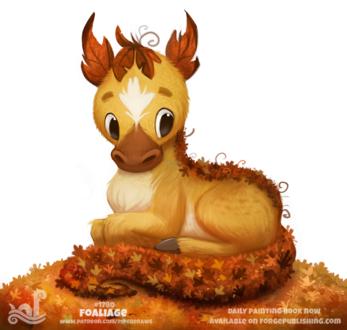 Фото Осеннее животное с осенними листьями (Foaliage), by Cryptid-Creations