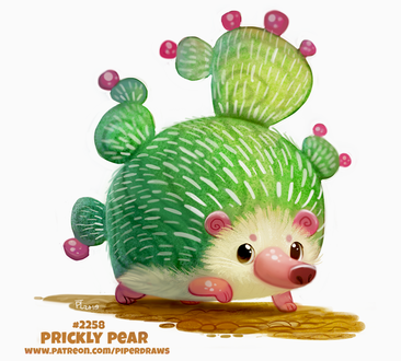Фото Ежик-кактус (Prickly Pear), by Cryptid-Creations
