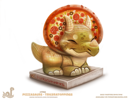 Фото Трицератопс-пицца (Pizzasaurus - Triceratoppings), by Cryptid-Creations
