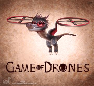 Фото Летающий дракончик (Game of Drones), by Cryptid-Creations