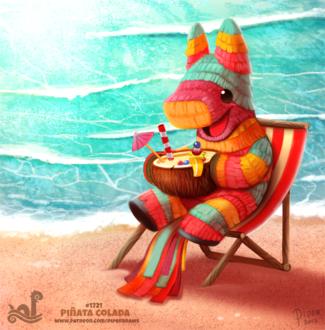 Фото Пиньята возле моря (Pinata Colada), by Cryptid-Creations