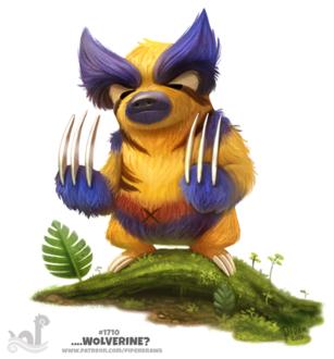 Фото Ленивец в образе James Howlett / Джеймс Хоулетт из фильма X-Men / Люди Икс (Wolverine?), by Cryptid-Creations