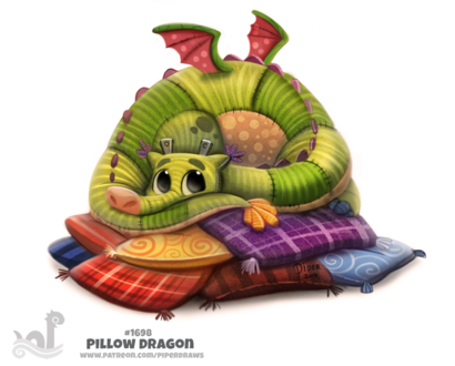 Фото Тканевый дракончик на подушках (Pillow Dragon), by Cryptid-Creations