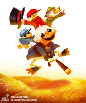 Фото Scrooge McDuck / Скрудж МакДа, Dewey / Дьюи / Вилли, Huey / Хьюи / Билли и Louie / Луи / Дилли из мультсериала DuckTales / Утиные истории (DuckTales), by Cryptid-Creations