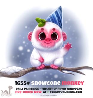 Фото Съедобная обезьянка с колпаком (Snowcone Monkey), by Cryptid-Creations