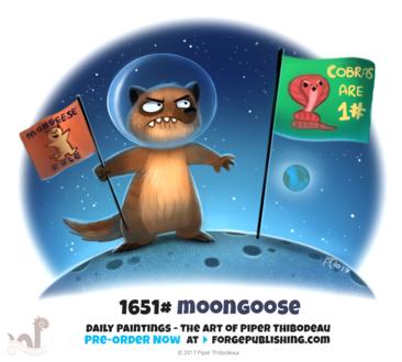 Фото Мангуст на луне в космосе (Moongoose), by Cryptid-Creations