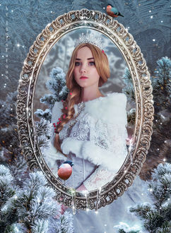 Фото Портрет девушки принцессы на зимнем фоне, by IgnisFatuusII