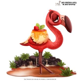 Фото Съедобный фламинго (Flanmingo), by Cryptid-Creations