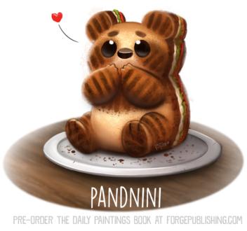 Фото Съедобный мишка на тарелке (Pandini), by Cryptid-Creations