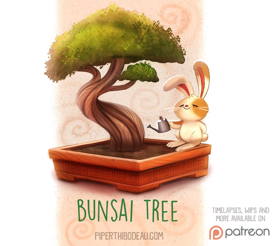 Фото Кролик поливает бонсай (Bunsai Tree), by Cryptid-Creations