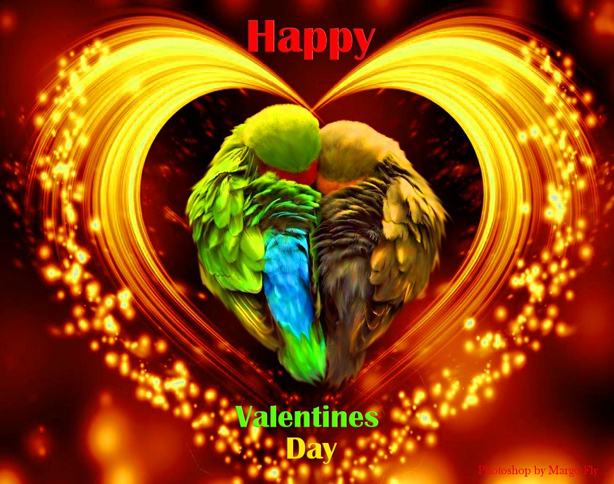 Фото Открытка ко Дню Святого Валентина. Фотошоп Margo Fly
