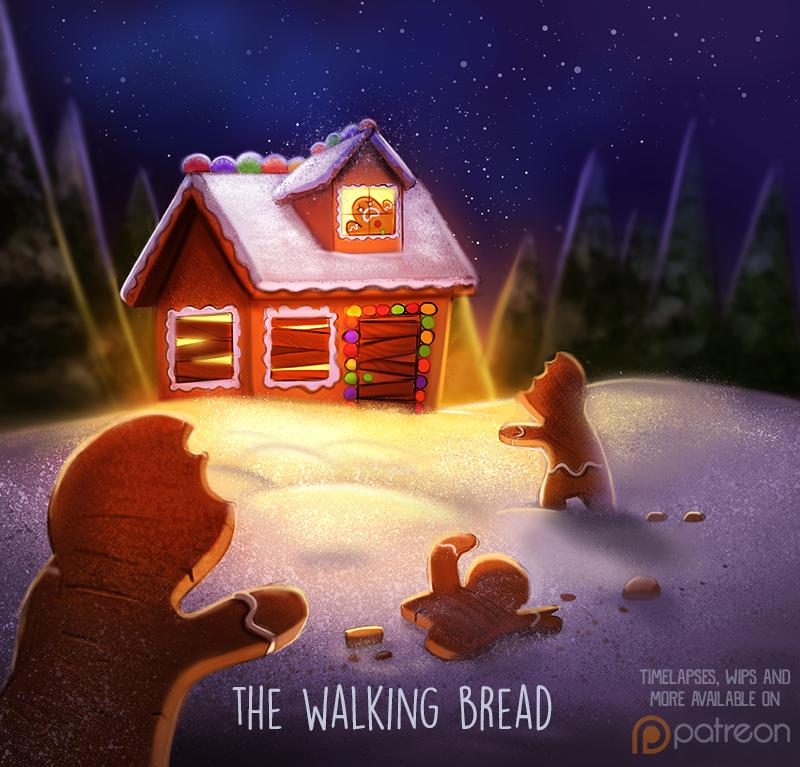 Фото Зомби-печеньки идут к домику (The Walking Bread), by Cryptid-Creations