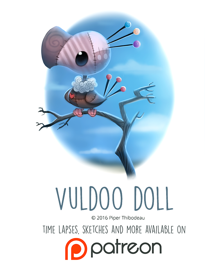 Фото Тряпичная птица на ветке (Voodoo Doll), by Cryptid-Creations