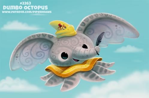 Фото Dumbo / Дамбо с мышонком из одноименного мультфильма (Dumbo Octopus), by Cryptid-Creations