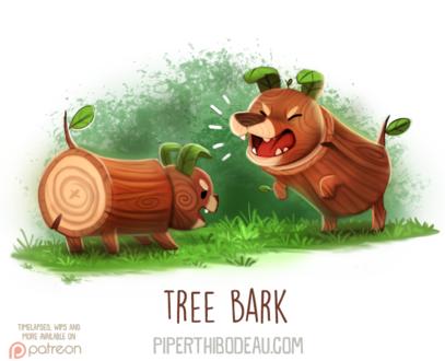 Фото Две собаки-полено (Tree Bark), by Cryptid-Creations
