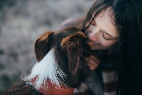 Фото Девочка целует собаку, фотограф Мария Струтинская