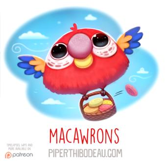 Фото Попугайчик с корзинкой в небе (Macawrons), by Cryptid-Creations