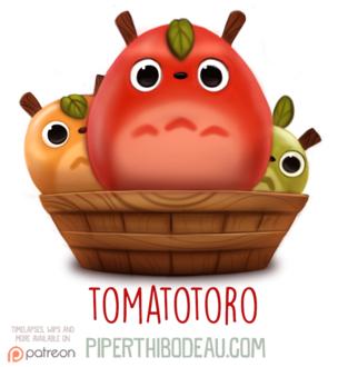 Фото Съедобные Totoro / Тоторо из аниме Tonari no Totoro / Мой сосед Тоторо (Tomatotoro), by Cryptid-Creations