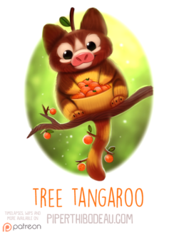 Фото Милое животное с мандаринками на ветке (Tree Tangaroo), by Cryptid-Creations