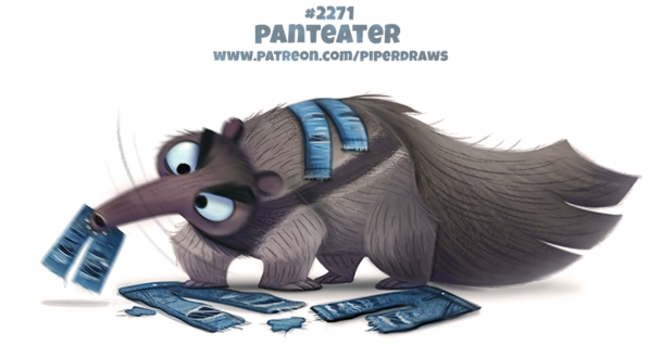 Фото Карликовый муравей грызет джинсовые штаны (Panteater), by Cryptid-Creations
