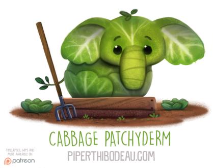 Фото Капустный слоник на грядке (Cabbage Patchyderm), by Cryptid-Creations (© Мася-тян), добавлено: 09.02.2019 12:21