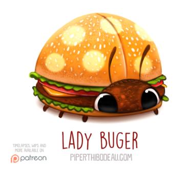 Фото Гамбургер божья коровка (Lady Buger), by Cryptid-Creations (© Мася-тян), добавлено: 09.02.2019 12:23