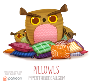 Фото Совушки в подушках (Pillowls), by Cryptid-Creations