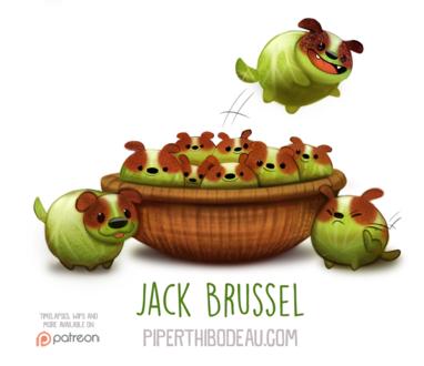 Фото Капустные собачки в корзинке (Jack Brussel), by Cryptid-Creations
