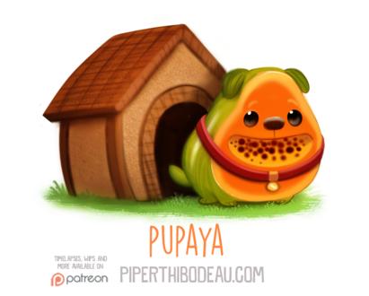 Фото Пес-папая возле будки (Pupaya), by Cryptid-Creations